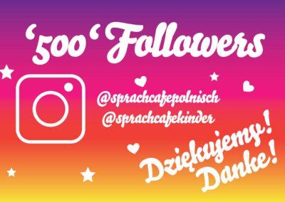 SprachCafe 500 Followers Instagram